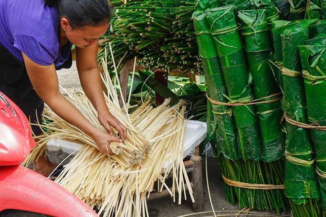 Chợ lá dong lâu đời nhất Thủ đô đìu hiu ngày cận Tết - Ảnh 6.