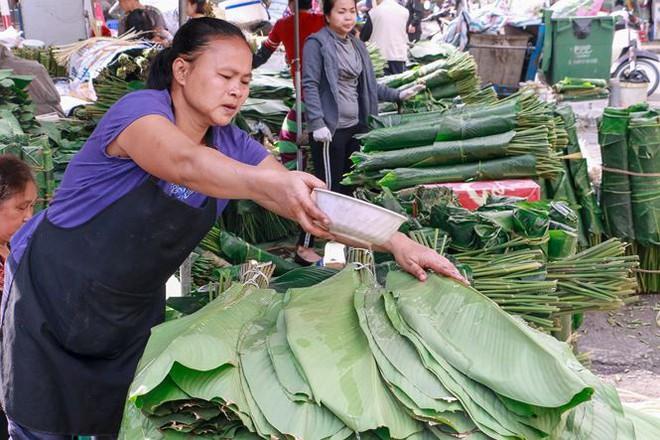 Chợ lá dong lâu đời nhất Thủ đô đìu hiu ngày cận Tết - Ảnh 8.