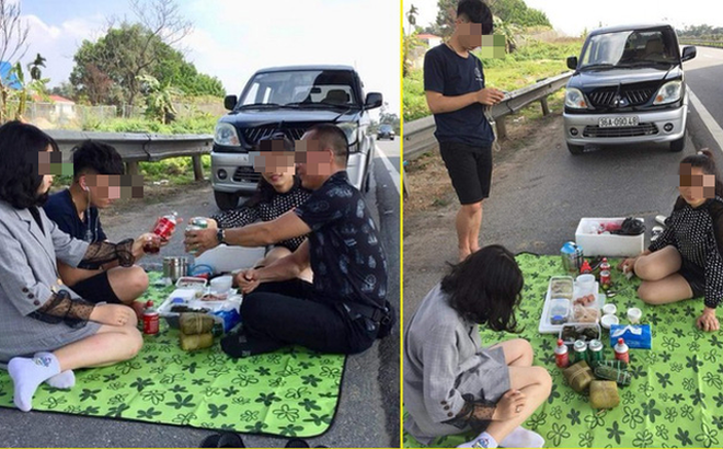 Vụ cả gia đình ăn nhậu trên cao tốc: Ra Tết sẽ triệu tập chủ xe lấy lời khai