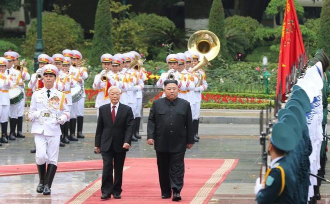 Toàn cảnh Lễ đón Chủ tịch Triều Tiên Kim Jong Un thăm chính thức Việt Nam