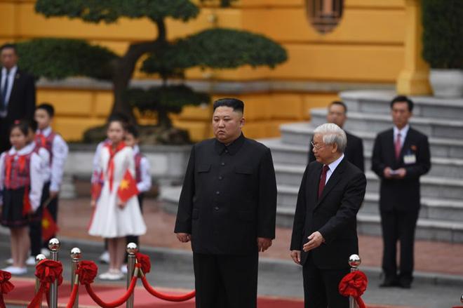 Toàn cảnh Lễ đón Chủ tịch Triều Tiên Kim Jong Un thăm chính thức Việt Nam - Ảnh 9.
