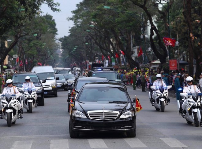 Toàn cảnh Lễ đón Chủ tịch Triều Tiên Kim Jong Un thăm chính thức Việt Nam - Ảnh 1.