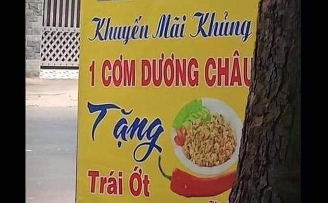 Tấm biển quảng cáo cứ ngỡ bình thường, đọc kĩ nhiều người phải bật cười vì một chi tiết