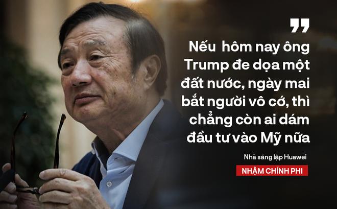 """Ông chủ Huawei Nhậm Chính Phi nói thẳng: """"Nếu họ không mua của chúng tôi, chúng tôi bán cho người khác!"""""""
