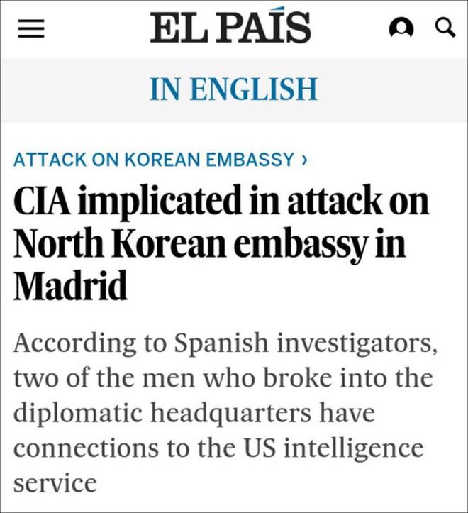 CIA tập kích sứ quán Triều Tiên tại Madrid để cướp tài liệu về cuộc gặp Donald Trump – Kim Jong Un ở Hà Nội? - Ảnh 3.