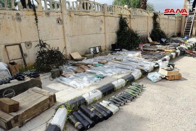 """Quân đội Syria tiếp tục thu hoạch vũ khí trang bị của """"quân nổi dậy"""" ở Daraa - Ảnh 5."""