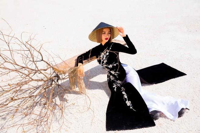 Kim Tuyến quyến rũ, xinh đẹp khi diện áo dài cách tân - Ảnh 8.