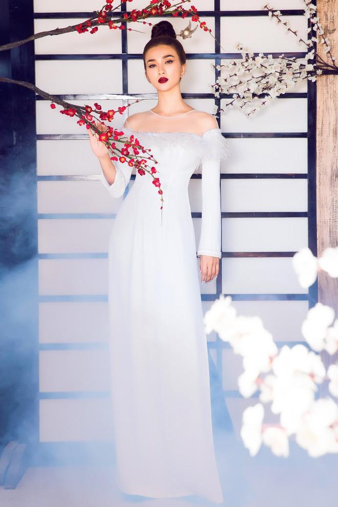 Kim Tuyến quyến rũ, xinh đẹp khi diện áo dài cách tân - Ảnh 5.