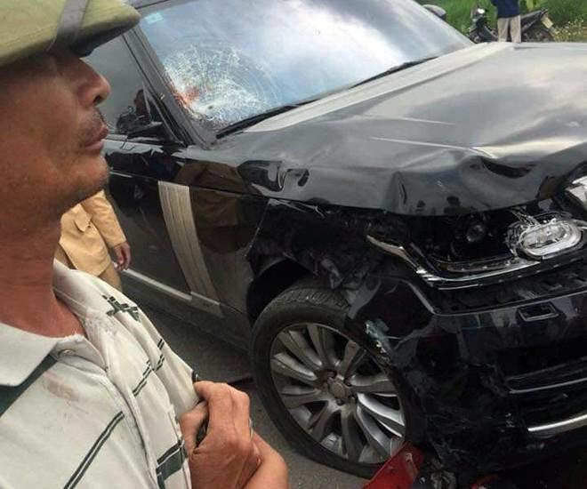 Xe sang Range Rover tông hai vợ chồng đi xe máy thương vong ở Hưng Yên - Ảnh 3.