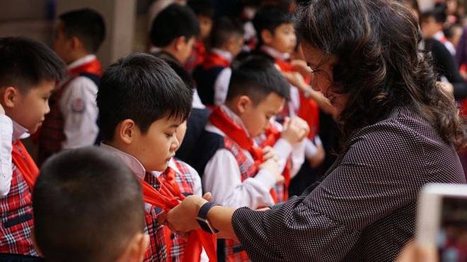 Ngôi trường có học sinh nhiều lần đón nguyên thủ quốc gia - Ảnh 2.