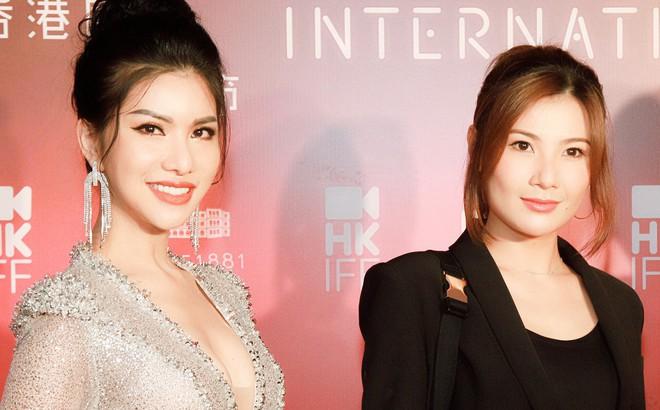Hoa hậu đang là tiếp viên hàng không VN gợi cảm, đi chung thảm đỏ với Quách Phú Thành