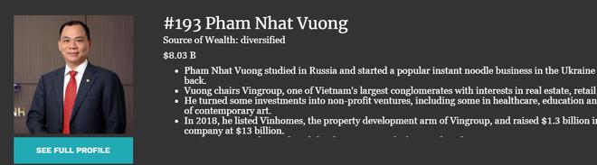 Forbes chốt tài sản kỷ lục của ông Phạm Nhật Vượng: 1 giờ tăng đủ tiền mua 25 chiếc VinFast - Ảnh 1.