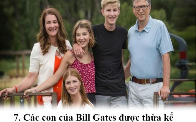 Các con của Bill Gates sẽ nhận được hàng tỷ đô từ tài sản thừa kế đúng không?
