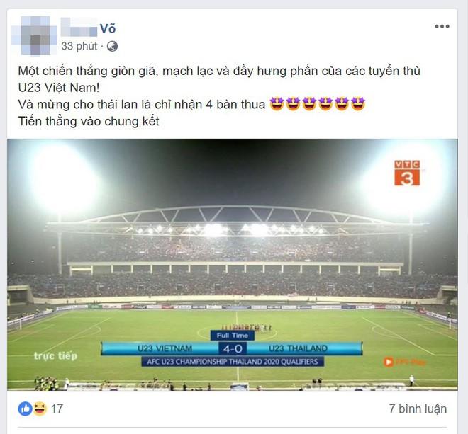 Việt Nam thắng trận lịch sử trước U23 Thái Lan, sự phấn khích tràn ngập khắp mạng xã hội - Ảnh 4.