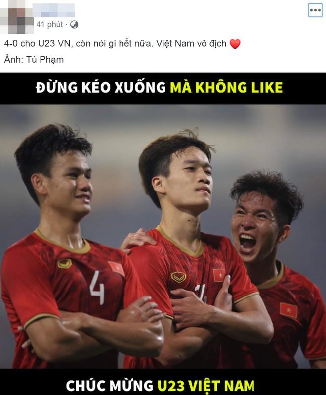 Việt Nam thắng trận lịch sử trước U23 Thái Lan, sự phấn khích tràn ngập khắp mạng xã hội - Ảnh 2.