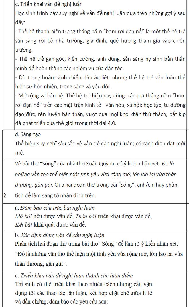 Chi tiết đề thi và đáp án môn Ngữ văn kỳ thi thử THPT quốc gia 2019 ở Hà Nội - Ảnh 5.