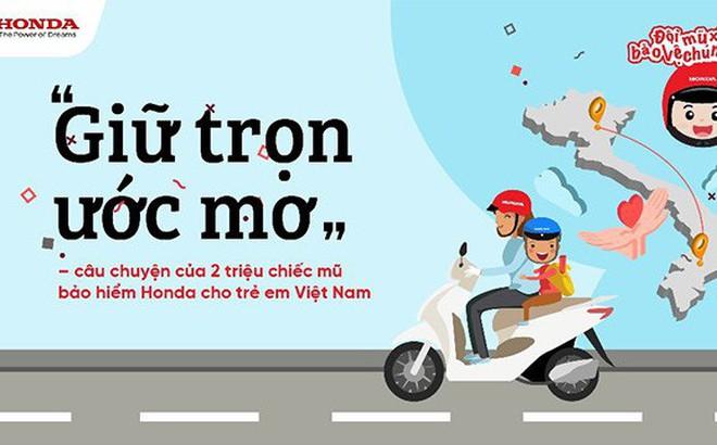 """""""Giữ trọn ước mơ"""" - câu chuyện về Honda Việt Nam và gần 2 triệu chiếc mũ bảo hiểm cho trẻ em Việt Nam"""
