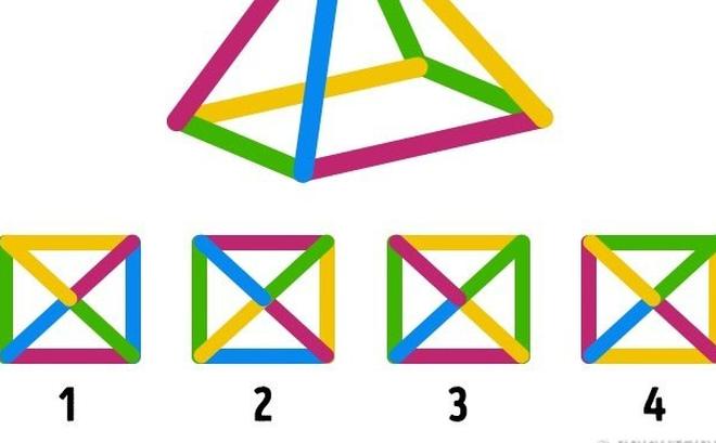 Câu đố logic: Hình nào tương ứng với hình kim tự tháp này?
