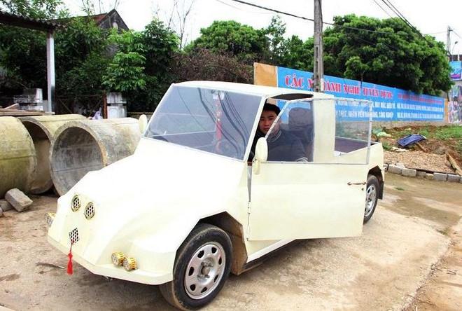 Nam thanh niên chế xe siêu bán tải từ chiếc xe máy Suzuki Viva với giá rẻ bất ngờ - Ảnh 2.