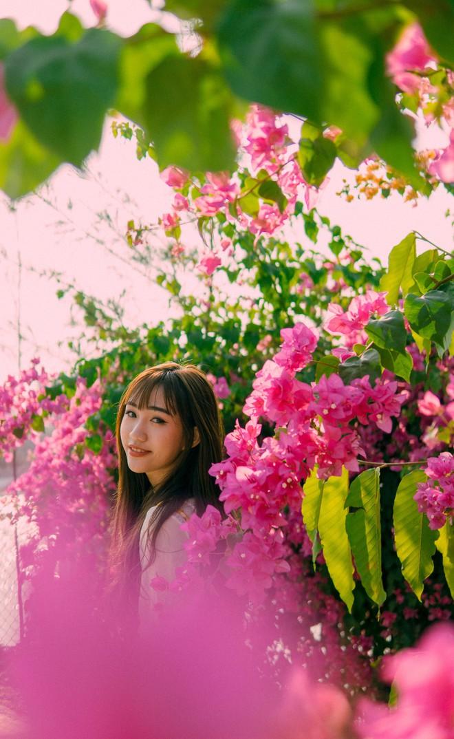 Chụp cả trăm kiểu đều đẹp, đây là giàn hoa được dân sống ảo truy lùng tại một trường đại học ở Việt Nam - Ảnh 3.