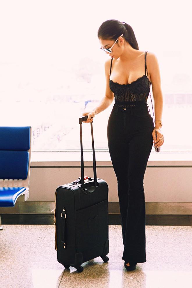 Hoa hậu kế nhiệm Ngọc Trinh gây choáng khi mặc thế này ra sân bay - Ảnh 5.