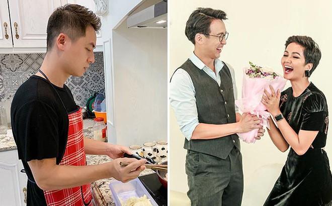 Đăng Khôi nấu ăn cho vợ, Quang Bảo ga lăng hết cỡ với H'Hen Niê trong ngày 8/3