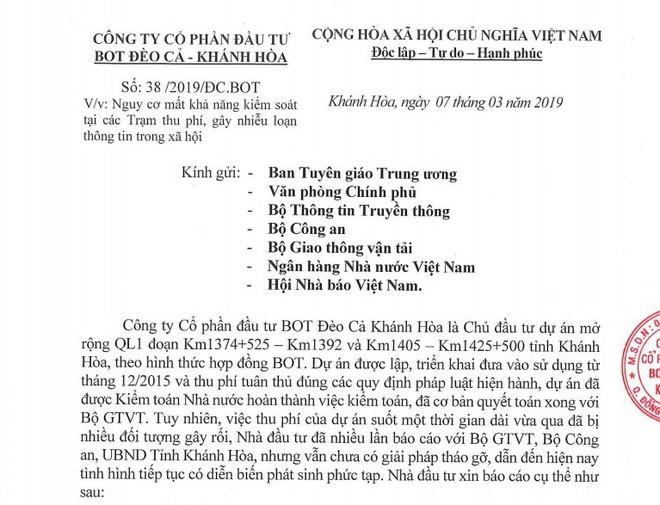 Nhà đầu tư BOT Ninh Lộc kiến nghị nóng: Mời Bộ Giao thông kiểm tra trạm, chính quyền, người dân giám sát - Ảnh 3.