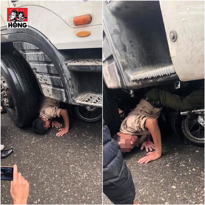 Bức ảnh được chia sẻ nhiều trên MXH: Đầu nạn nhân ghì sát bánh xe tải và khoảnh khắc thoát chết ám ảnh! - Ảnh 1.