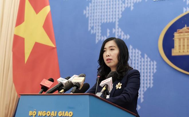 Việt Nam trả lời câu hỏi liên quan đến vị trí Trung Quốc hạ đặt giàn khoan trên Biển Đông
