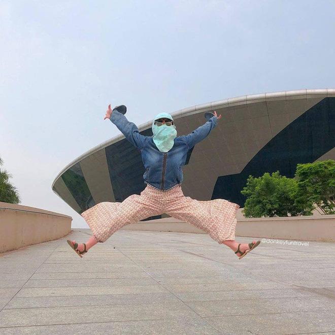 Không có xe tay ga nhưng ninja vẫn giữ nguyên phong cách, chụp ảnh du lịch hè mà bưng bít từ đầu đến chân - Ảnh 7.