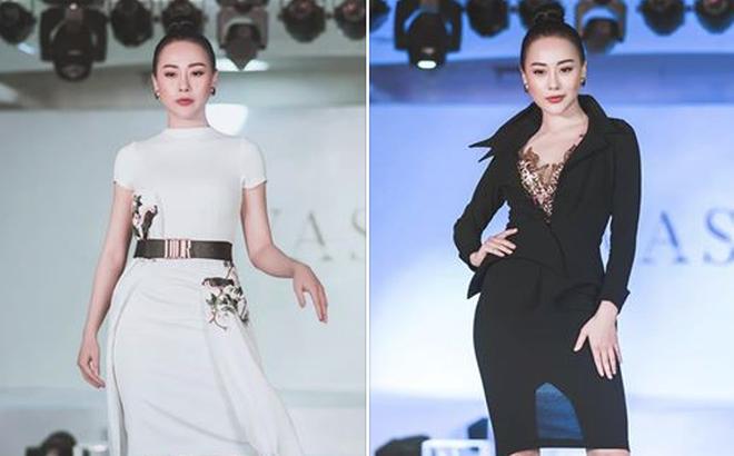 """""""Quỳnh búp bê"""" Phương Oanh tái xuất sàn catwalk, trình diễn ấn tượng"""