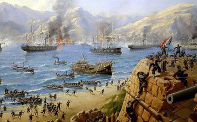 Thực dân Pháp câu kết Tây Ban Nha, đem chiến thuyền hùng hậu tấn công Đà Nẵng