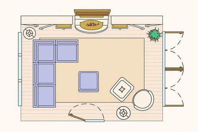 Có 10 bản vẽ thiết kế phòng khách cực tỉ mỉ này thì bạn còn lo gì việc trăn trở xem bố trí phòng khách thế nào cho hợp lý - Ảnh 5.