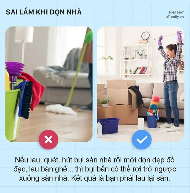5 sai lầm khi dọn dẹp nhà cửa khiến nhà càng dọn càng bẩn hơn - Ảnh 2.