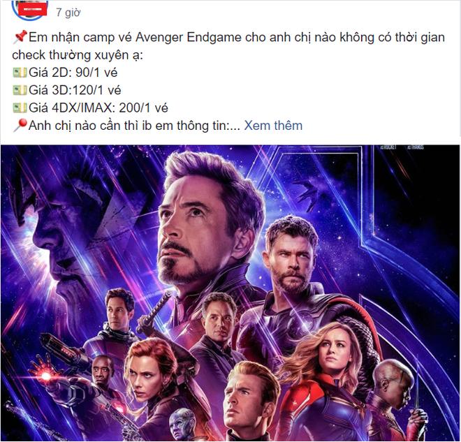 Nở rộ dịch vụ nhận đặt vé Avengers: Endgame ăn chênh, hàng chợ đen đắt gấp 3 lần - Ảnh 2.