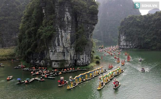 Lễ hội rước rồng độc đáo trên sông nước ở Tràng An - Ninh Bình - Ảnh 8.
