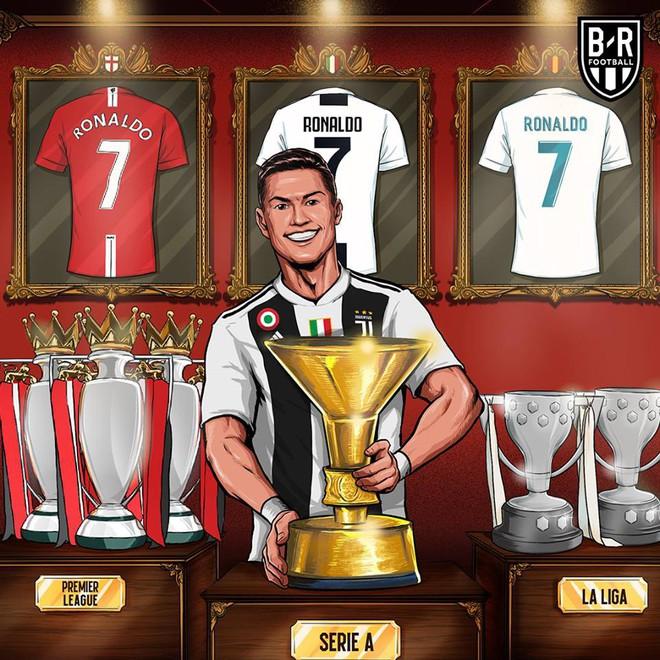 Lập thành tích vô tiền khoáng hậu, Ronaldo vẫn phải ngửi khói Messi - Ảnh 1.