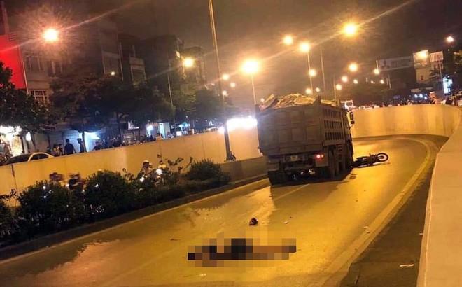 Hà Nội: Nam thanh niên đi xe máy bị xe ben cán tử vong dưới hầm chui Kim Liên