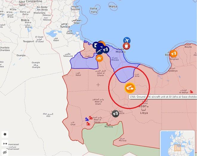 Chiến sự Libya có bước ngoặt lớn - Một chiến đấu cơ của GNA bị tên lửa phòng không bắn hạ - Ảnh 1.