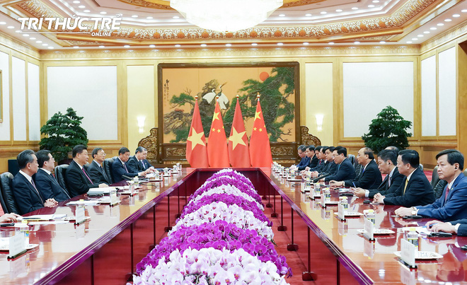 Thủ tướng hội kiến Tổng bí thư, Chủ tịch nước Trung Quốc Tập Cận Bình - Ảnh 6.