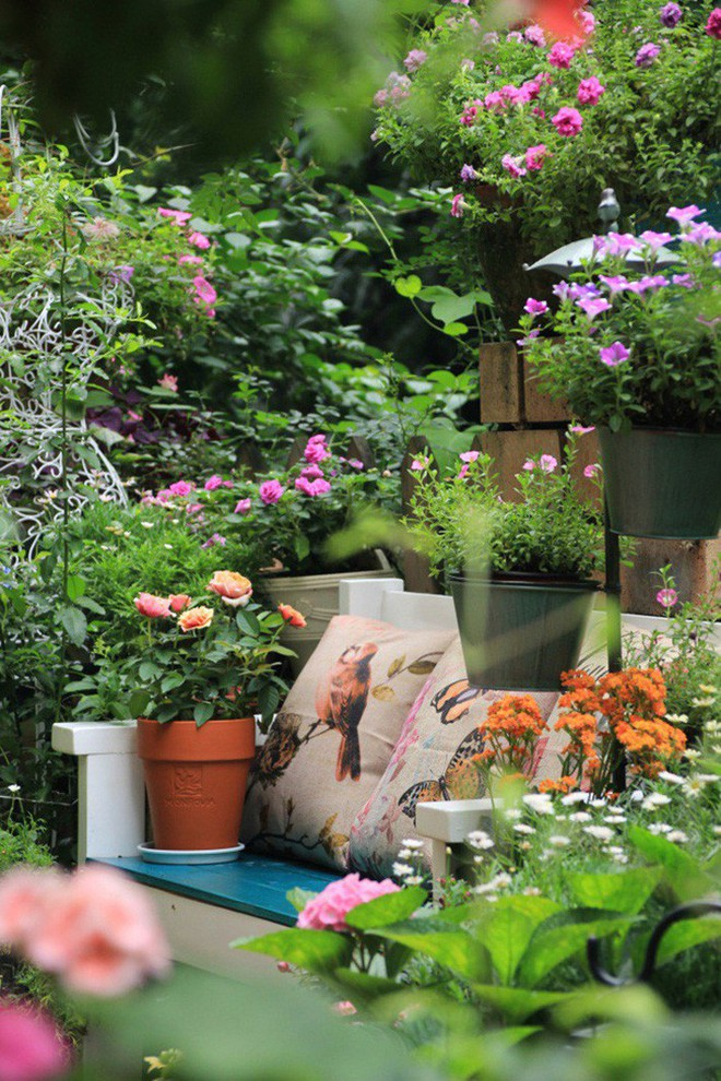 Khu vườn rực rỡ như xứ sở thần tiên của cô gái xinh đẹp với đủ loại hoa khoe sắc - Ảnh 6.