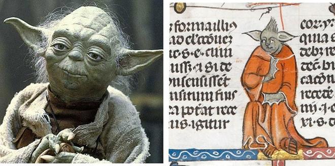 Bất ngờ phát hiện hình vẽ giống hệt Yoda của Star Wars trong bản thảo sách từ thế kỷ 14 - Ảnh 2.