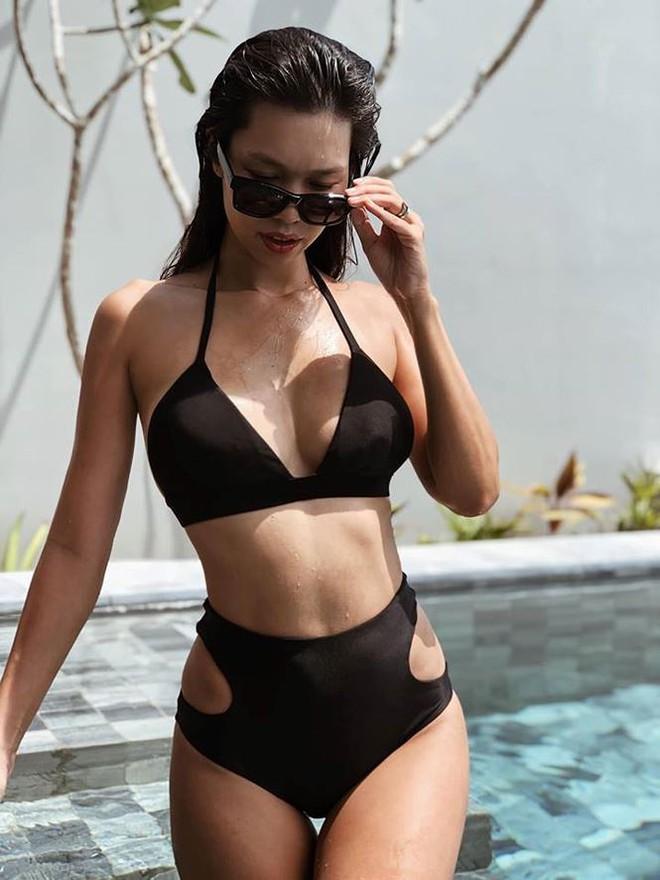 Hà Anh khoe dáng cực nóng bỏng với bikini sau 9 tháng sinh con - Ảnh 2.