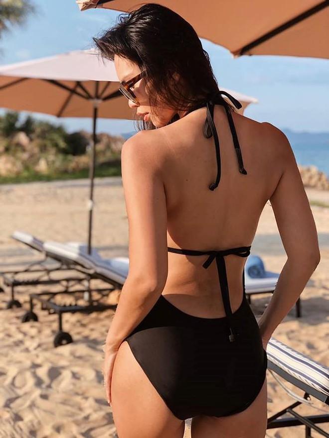 Hà Anh khoe dáng cực nóng bỏng với bikini sau 9 tháng sinh con - Ảnh 6.