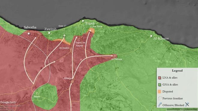 CẬP NHẬT: Chiến sự Libya nóng rẫy - Sân bay duy nhất còn hoạt động ở Tripoli bị không kích - Chặt đứt cầu hàng không - Ảnh 10.