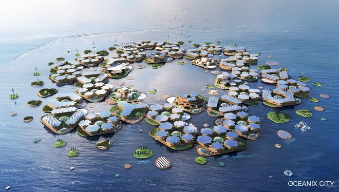 Thành phố nổi chứa 10.000 dân, không sợ bão lũ hay sóng thần - Ảnh 1.