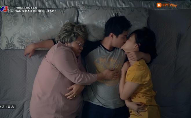 """""""Nàng dâu order"""" tập 1: Chưa có phim truyền hình Việt nào mà mới mở màn, cặp đôi chính đã """"hở ra là hôn"""" thế này!"""
