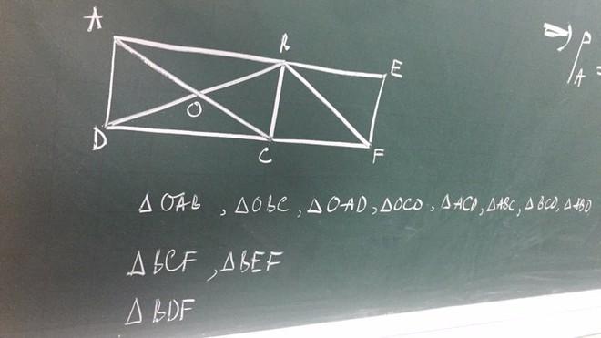 Bài toán đếm hình tam giác khiến phụ huynh hoang mang - Ảnh 2.