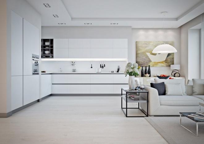 Mẫu căn hộ đẹp có phòng khách liền kề nhà bếp - Ảnh 2.