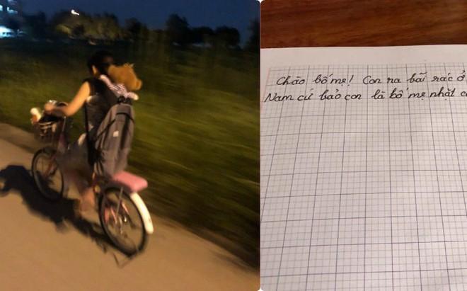 Em gái lầm lũi đạp xe bỏ nhà đi, nội dung lá thư để lại khiến tất cả giật mình